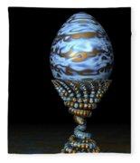 Blue And Golden Egg Fleece Blanket