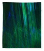 Blue And Green Abstract Fleece Blanket