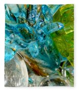 Blue And Green Glass Abstract Fleece Blanket