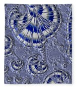 Blue And Silver 1 Fleece Blanket