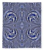 Blue And Silver 2 Fleece Blanket