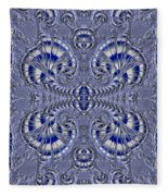 Blue And Silver 3 Fleece Blanket