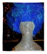 Blue And Silver Girl Fleece Blanket