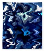 Blue And Turquoise Abstract Fleece Blanket
