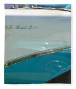 Blue And White Bel Air Convertable Fleece Blanket