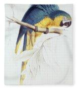 Blue And Yellow Macaw Fleece Blanket