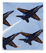 Blue Angels Over Colorado Fleece Blanket