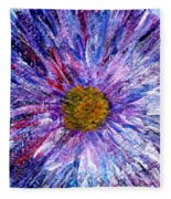 Blue Aster Miniature Painting Fleece Blanket