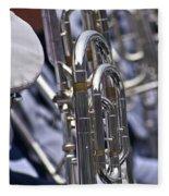 Blue Band Brass Fleece Blanket