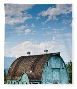 Blue Barn In The Stillaguamish Valley Fleece Blanket