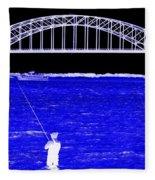Blue Bay Bridge Fleece Blanket