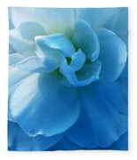 Blue Begonia Flower Fleece Blanket