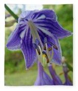 Blue Bell Flower Fleece Blanket