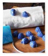 Blue Berries Mini Soaps Fleece Blanket