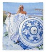 Blue Berry Beach  Fleece Blanket