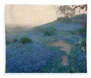Blue Bonnet Field In San Antonio Fleece Blanket