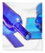 Blue Bottles Fleece Blanket