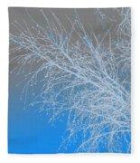 Blue Branches Fleece Blanket