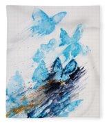Blue Butterflies Fleece Blanket