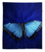 Blue Butterfly Ascending 02 Fleece Blanket