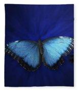 Blue Butterfly Ascending Fleece Blanket