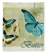 Blue Butterfly - S55c01 Fleece Blanket