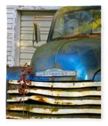 Blue Chevy   Fleece Blanket