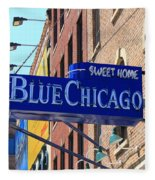 Blue Chicago Club Fleece Blanket