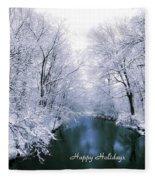 Blue Christmas Fleece Blanket