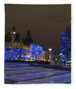 Blue Christmas.. Fleece Blanket