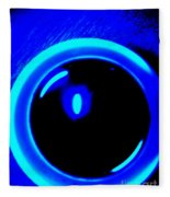 Blue Circle Fleece Blanket