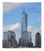 Blue City Skyline Fleece Blanket