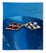Blue Corvette Fleece Blanket