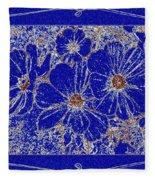 Blue Cosmos Abstract Fleece Blanket