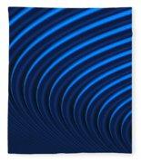 Blue Curves Fleece Blanket