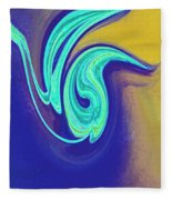 Blue Dance By Jrr Fleece Blanket