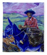Blue Donkey Fleece Blanket