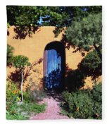 Blue Door At Old Mesilla Fleece Blanket