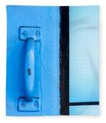 Blue Door Handle Fleece Blanket