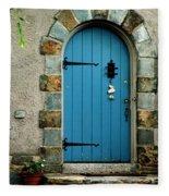Blue Door In Baltimore Fleece Blanket