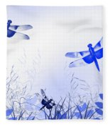 Blue Dragonfly Art Fleece Blanket