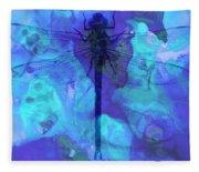 Blue Dragonfly By Sharon Cummings Fleece Blanket