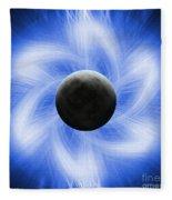 Blue Eclipse Fleece Blanket