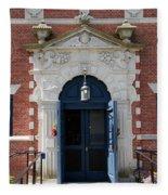 Blue Entrance Door Fleece Blanket