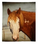 Blue Eyed Paint Fleece Blanket