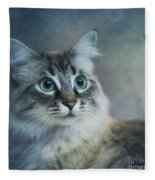 Blue Eyed Queen Fleece Blanket