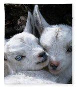 Blue-eyed Twins Fleece Blanket