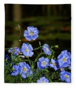 Blue Flax By The Pond Fleece Blanket