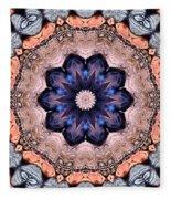 Blue Flora Mandala Fleece Blanket