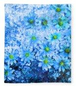 Blue Floral Fantasy Fleece Blanket